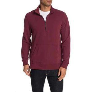 Jason Scott Track Zip Mock Neck Sweatshirt XL